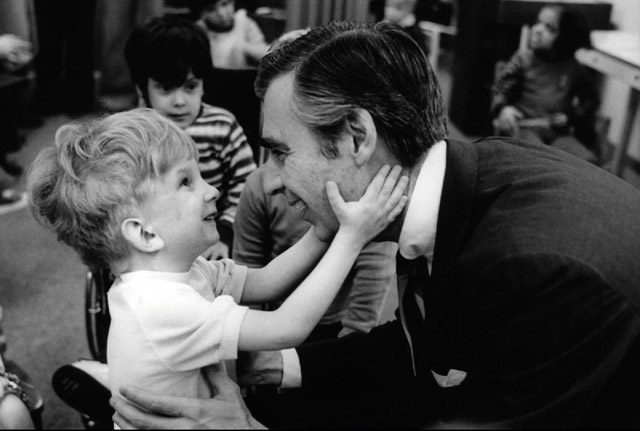 Mr. Rogers with little girl